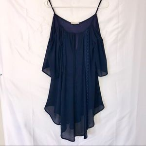 Altar'd State Royal blue cold shoulder dress